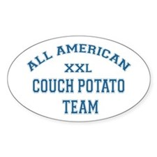 AA Couch Potato Team Oval Decal
