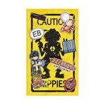 Caution Hippies! - Sticker