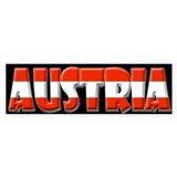 Word Art Flag of Austria Bumper  Bumper Sticker