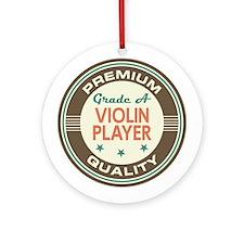 Violin Player Vintage Ornament (Round)