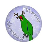 Male Reindeer Eclectus Holiday Ornament