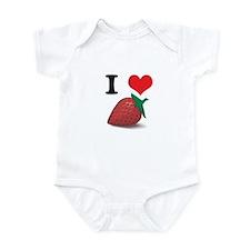 I Heart (Love) Strawberries Infant Bodysuit