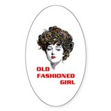 OLD FASHIONED GIRL Oval Decal