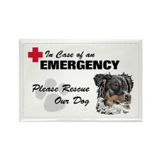 Australian Shepherd Rescue Rectangle Magnet (10 pa