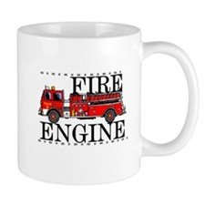 Red Fire Engine Mug