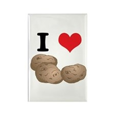 I Heart (Love) Potatoes Rectangle Magnet