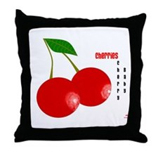 Cherry Baby Cherries Throw Pillow by Cadence