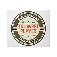 Trumpet Player Vintage Throw Blanket