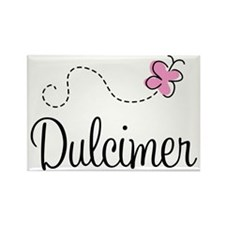 Pretty Dulcimer Rectangle Magnet