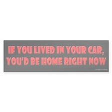 If You Lived in Your Car Bumper Bumper Sticker