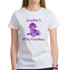 Daddy's little monkey (purple) Tee