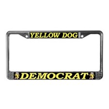 License Plate Frame Yellow Dog black bac