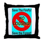 Save the Firefly Throw Pillow
