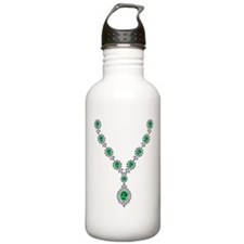 Emerald and Diamond Necklace Water Bottle