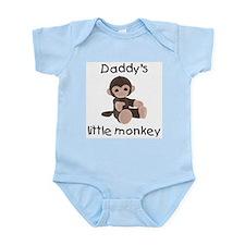 Daddy's little monkey (brown) Infant Bodysuit