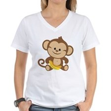 Boy Monkey With Bananas T-Shirt