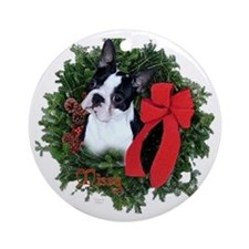 Boston Christmas Ornament (Round)