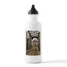 Antique Railroad Bridge In Sepia Tone Water Bottle