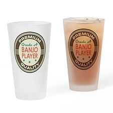 Banjo Player Vintage Drinking Glass