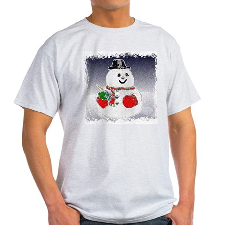 Winter Snowman Ash Grey T-Shirt