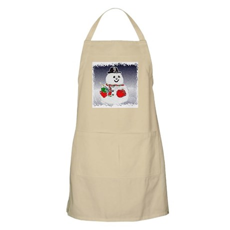 Winter Snowman BBQ Apron
