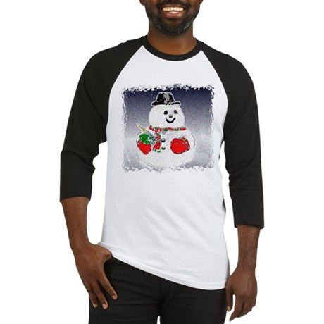 Winter Snowman Baseball Jersey