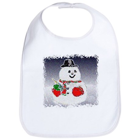 Winter Snowman Bib