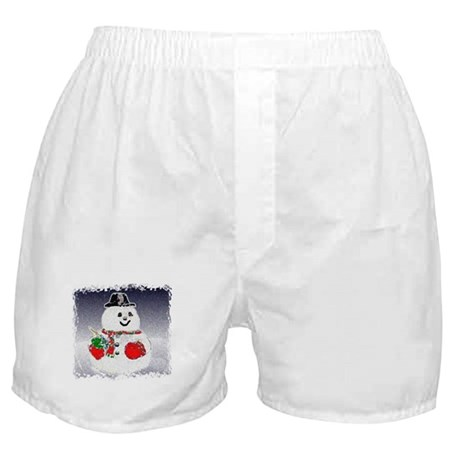 Winter Snowman Boxer Shorts