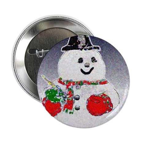 Winter Snowman Button