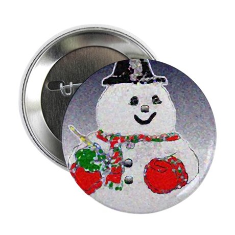 "Winter Snowman 2.25"" Button (100 pack)"