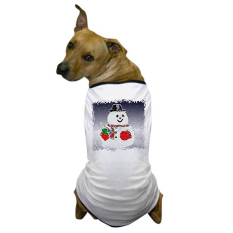 Winter Snowman Dog T-Shirt