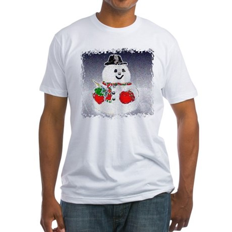 Winter Snowman Fitted T-Shirt