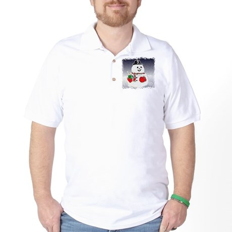 Winter Snowman Golf Shirt