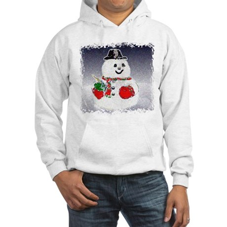 Winter Snowman Hooded Sweatshirt