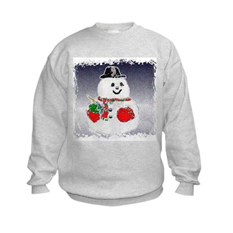 Winter Snowman Kids Sweatshirt