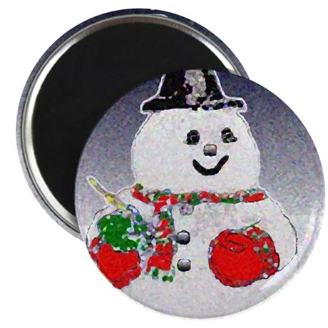 "Winter Snowman 2.25"" Magnet (100 pack)"