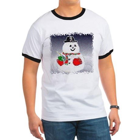 Winter Snowman Ringer T