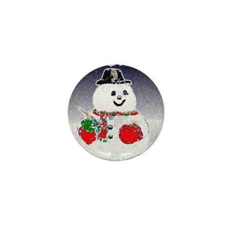 Winter Snowman Mini Button (100 pack)