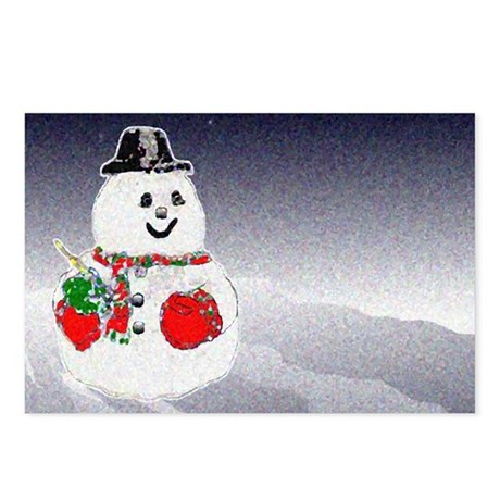Winter Snowman Postcards (Package of 8)
