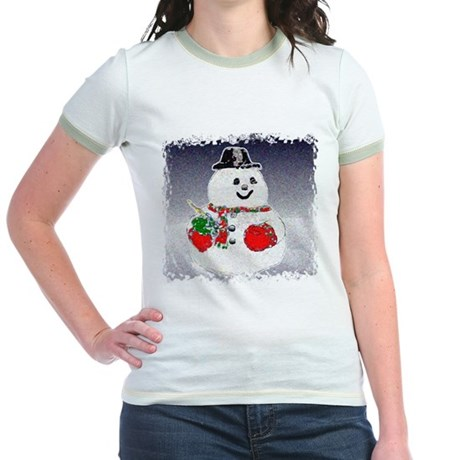 Winter Snowman Jr. Ringer T-Shirt