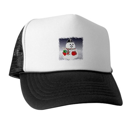 Winter Snowman Trucker Hat