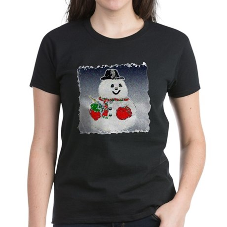 Winter Snowman Women's Dark T-Shirt