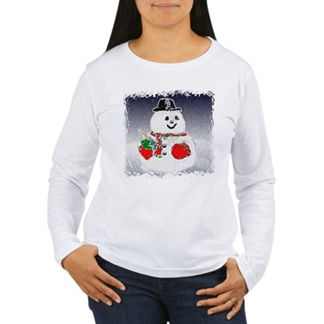 Winter Snowman Women's Long Sleeve T-Shirt