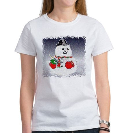 Winter Snowman Women's T-Shirt