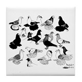 Saxon Color Pigeons Tile Coaster