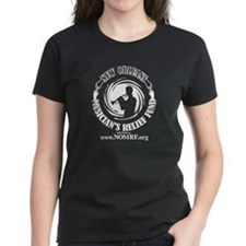NOMRF Logo on Women's Black T-Shirt