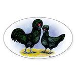 Crevecoeur Chickens Oval Sticker