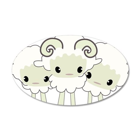 Trio of Sheep Wall Decal