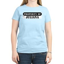 Property of Juliana Women's Pink T-Shirt