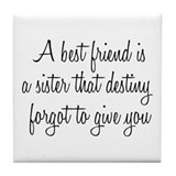 Best Friend Tile Coaster